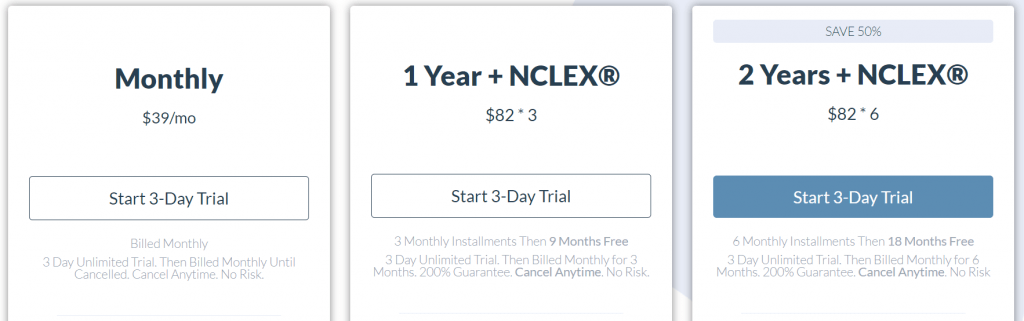 Nursing.com NCLEX Price Plans