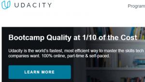 Udacity Homepage
