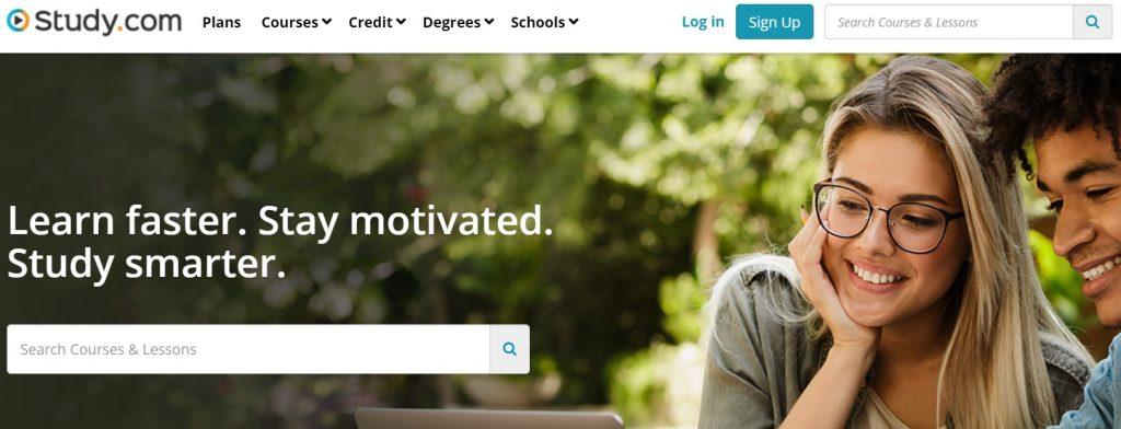 Study.com Homepage