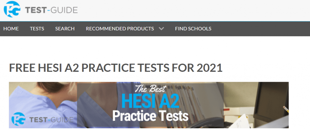 Test-Guide HESI A2 Homepage