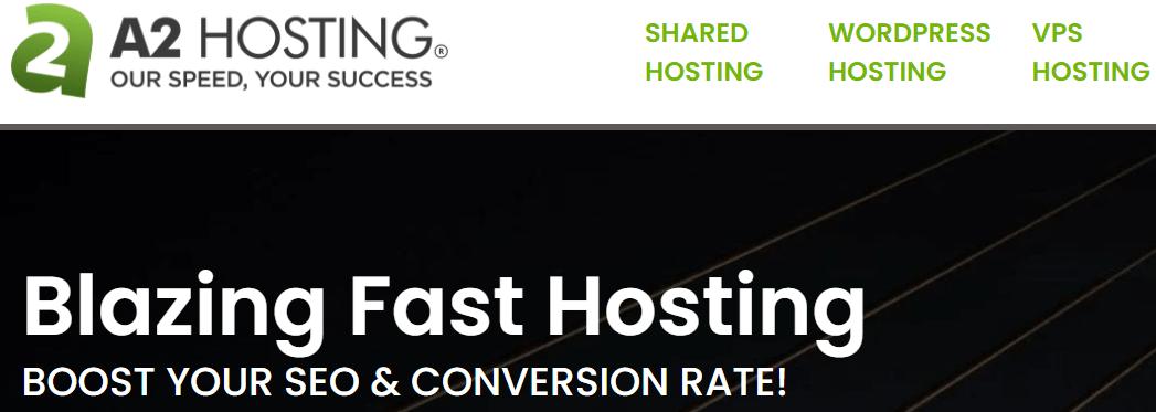 A2 Web Hosting Homepage