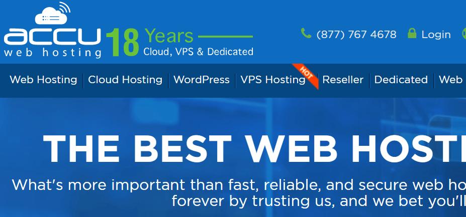Accu Web Hosting Homepage