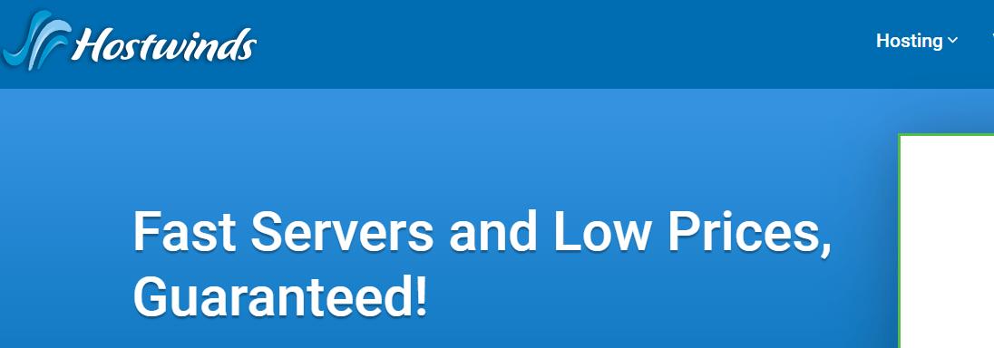 Hostwinds Homepage