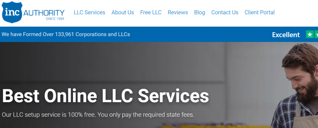Inc Authority LLC Formation Services Homepage