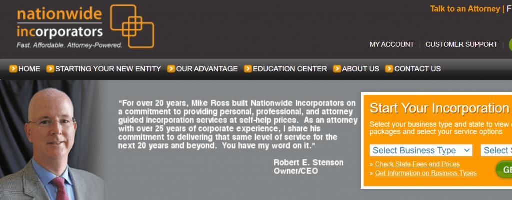Nationwide Incorporators Homepage