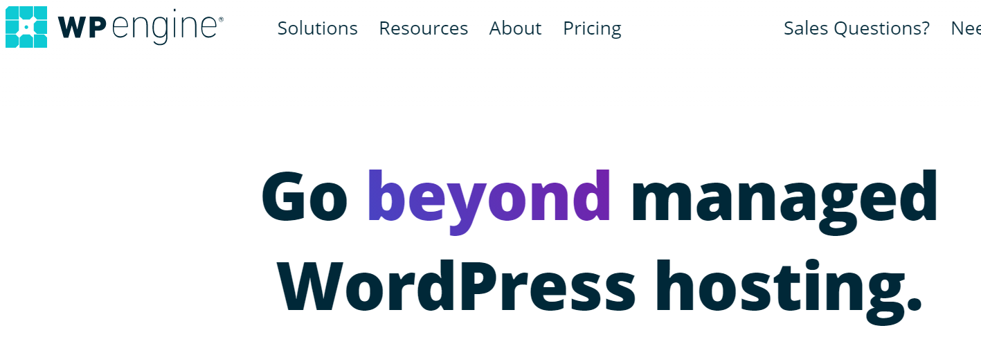 WPengine Homepage