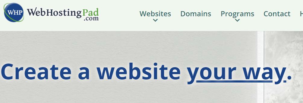 WebHostingPad Homepage