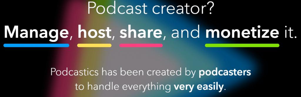 Podcastics Hompage